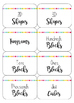 Light and Bright Classroom and Math Manipulative Label Set