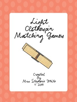 Light and Color Clothespin Matching Games