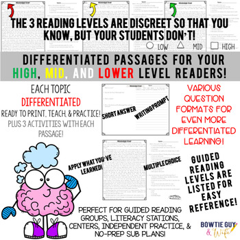 Light and Color {Differentiated Close Reading Passages & Questions}