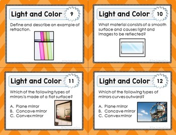 Light and Color Task Cards