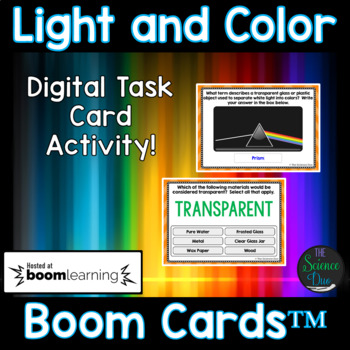 Light and Color Task Cards - Digital Boom Cards™