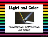 Light and Color : Transparent, Translucent and Opaque Presentation