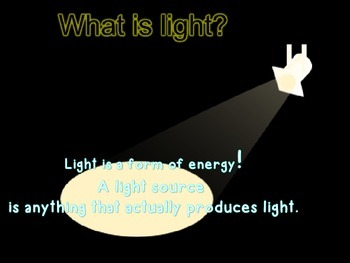 Light and Light sources powerpoint.