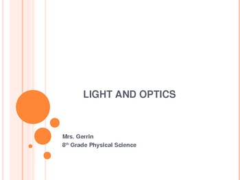 Light and Optics Powerpoint