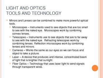 Light and Optics Powerpoint