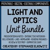 Light and Optics Unit Bundle - Distance Learning