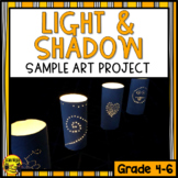 Light and Shadow Inspired Art Project Sample