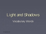 Light and Shadow Vocabulary Words