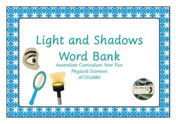 Light and Shadows Word Bank