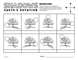 Light and Shadows Worksheet - Sun Position Practice for 4t