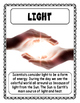 Light and Sound Vocabulary Posters & Activities