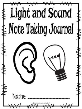 Light and Sound CKLA Note Taking Journal