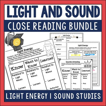Light and Sound Close Reading Sets