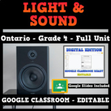 Light and Sound - Google Classroom - Ontario Science Grade 4 - Distance Learning
