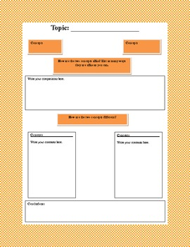 Light and Sound Graphic Organizer