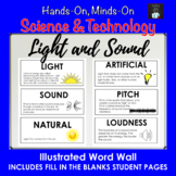 Light and Sound Illustrated Word Wall (Grade 4 Ontario)
