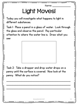 Light and Sound: Inquiry Activities, PowerPoint and Notes Bundle