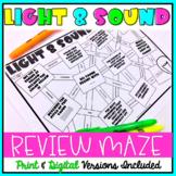 Light and Sound Maze Worksheet