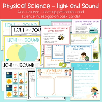 Light and Sound | Physical Science Posters and Activities