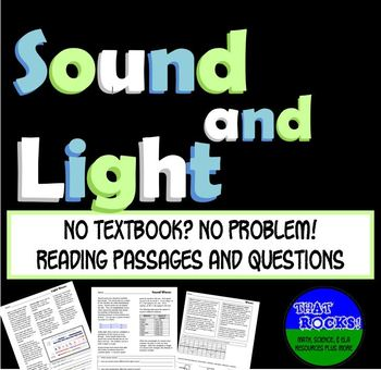 Light and Sound Informational Texts- No Textbook? No Problem!