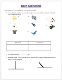 Light and Sound Unit Assessment