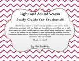 Light and Sound Waves Study Guide Booklet
