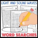 Light and Sound Waves Word Searches 1st Grade