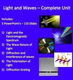 Light and Waves Complete Unit - PowerPoint Lessons, Worksheets & Assessments