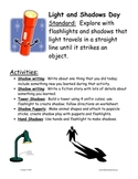 Light and shadows activities for young students (Groundhog Day)