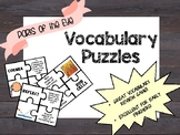 Light and the Eye Vocabulary Puzzles