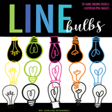 Lightbulb Clip Art - Line Drawn Doodles