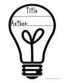 Light bulb-Shaped Book Template