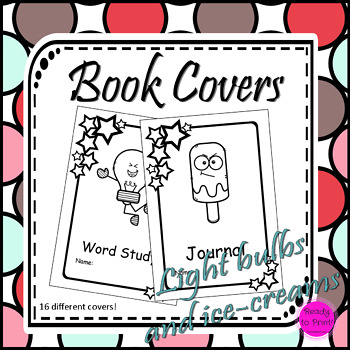 Light bulbs and ice-cream book covers