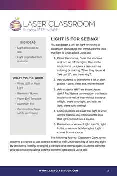 Light is for Seeing!