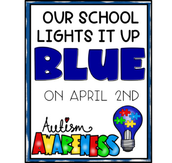 Light it up blue - autism awareness