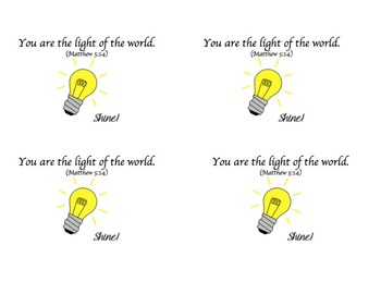 Light of the worldPrintable PDF-