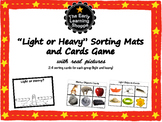 Light or Heavy? Sorting Mats and Cards Game