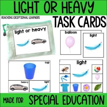 Light or Heavy? Task Card Set