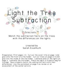 Light the Tree Subtraction - Beginning Subtraction