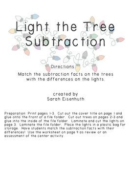 Light the Tree Subtraction - Beginning Subtraction