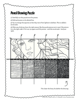 Light-to-Dark Drawing Puzzle