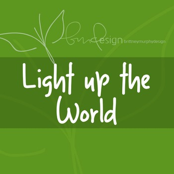 Light up the World Font for Commercial Use