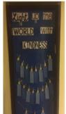 Light up the World with Kindness Menorah Writing & Bulleti
