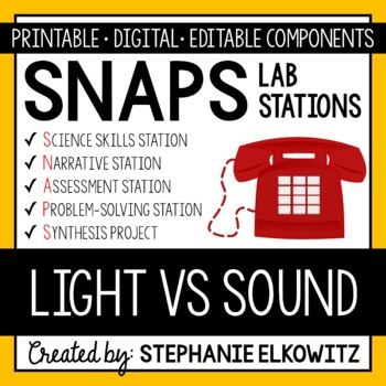 Light vs. Sound Waves Lab Stations Activity