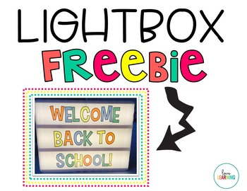 LightBox Slide Inserts {Freebie}