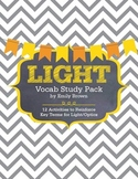Light/Optics Vocabulary Activity Pack