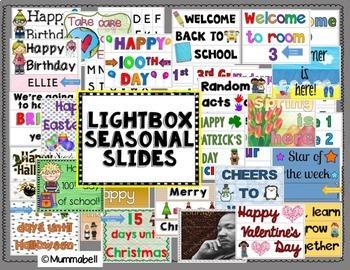 Lightbox BUNDLE set - Seasonal/Special Days & Motivational Quotes
