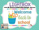 Lightbox Designs - Back to School