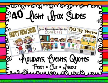 Lightbox / Cinema Box Inserts For Home or School