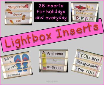 Lightbox Inserts